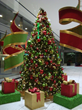 Decorations in Downtown Houston are above-ground, as here in the lobby of One City Centre
