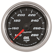 Pro Cycle by Auto Meter Bagger Oil Temperature Gauge, Cobalt Series