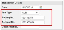 Online Tenant ACH Payment