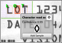 IntelliText OCR in AutoVISION Machine Vision Software enables advanced recognition of human-readable text.