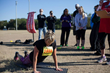 Wendy Furchak completing push-ups