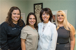 Parlin Dentist Dr. Mariana Blagoev (second from right to left), and her staff