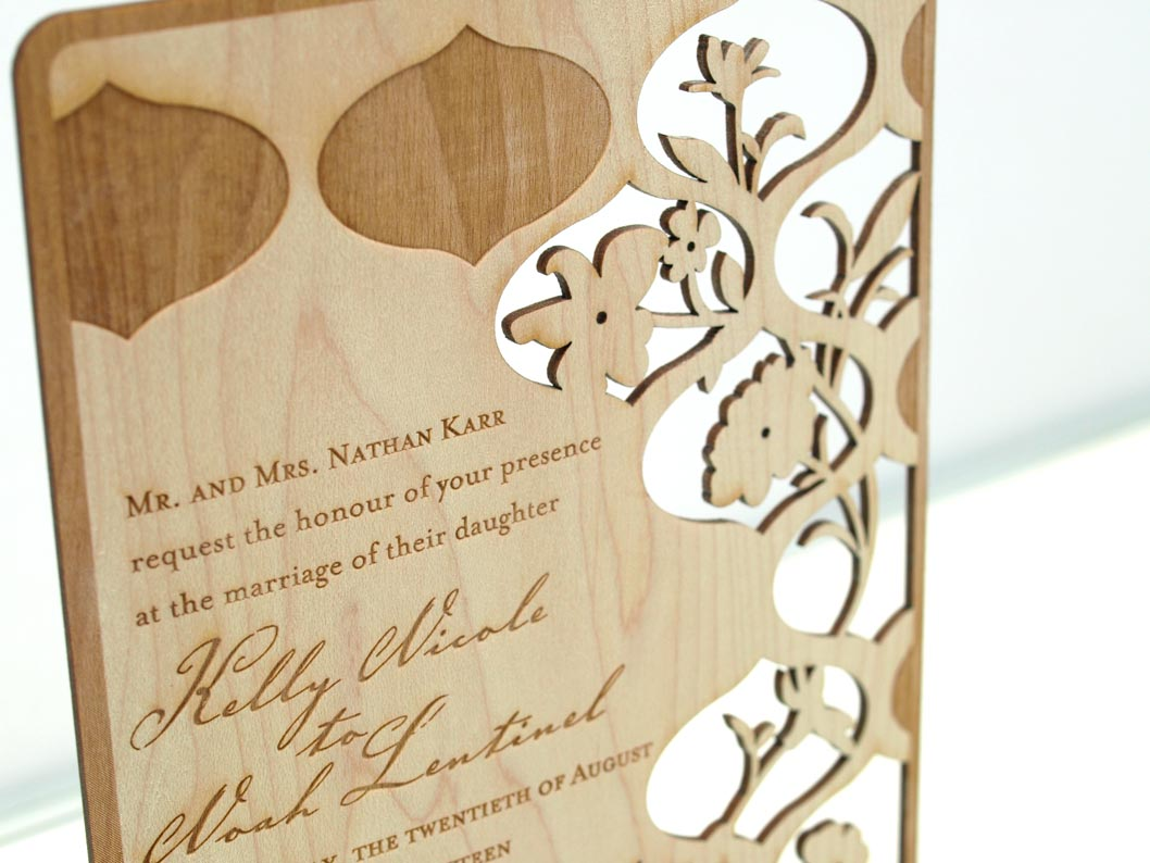 New Metal and Wood EcoFriendly Wedding Invitations Unveiled by – Wood Invitations Wedding