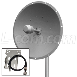 L-com MIMO Antenna with Ubiquiti® RocketM2/M5 Mounting Kit
