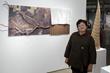 "Wendy Maruyama, artist and her piece ""Tule Lake"""