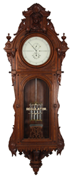 E. Howard No. 47 Astronomical Hanging Regulator. The clock case is the epitome of the American Renaissance Revival