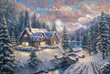 Rare Christmas Painting Release from the Thomas Kinkade Vault