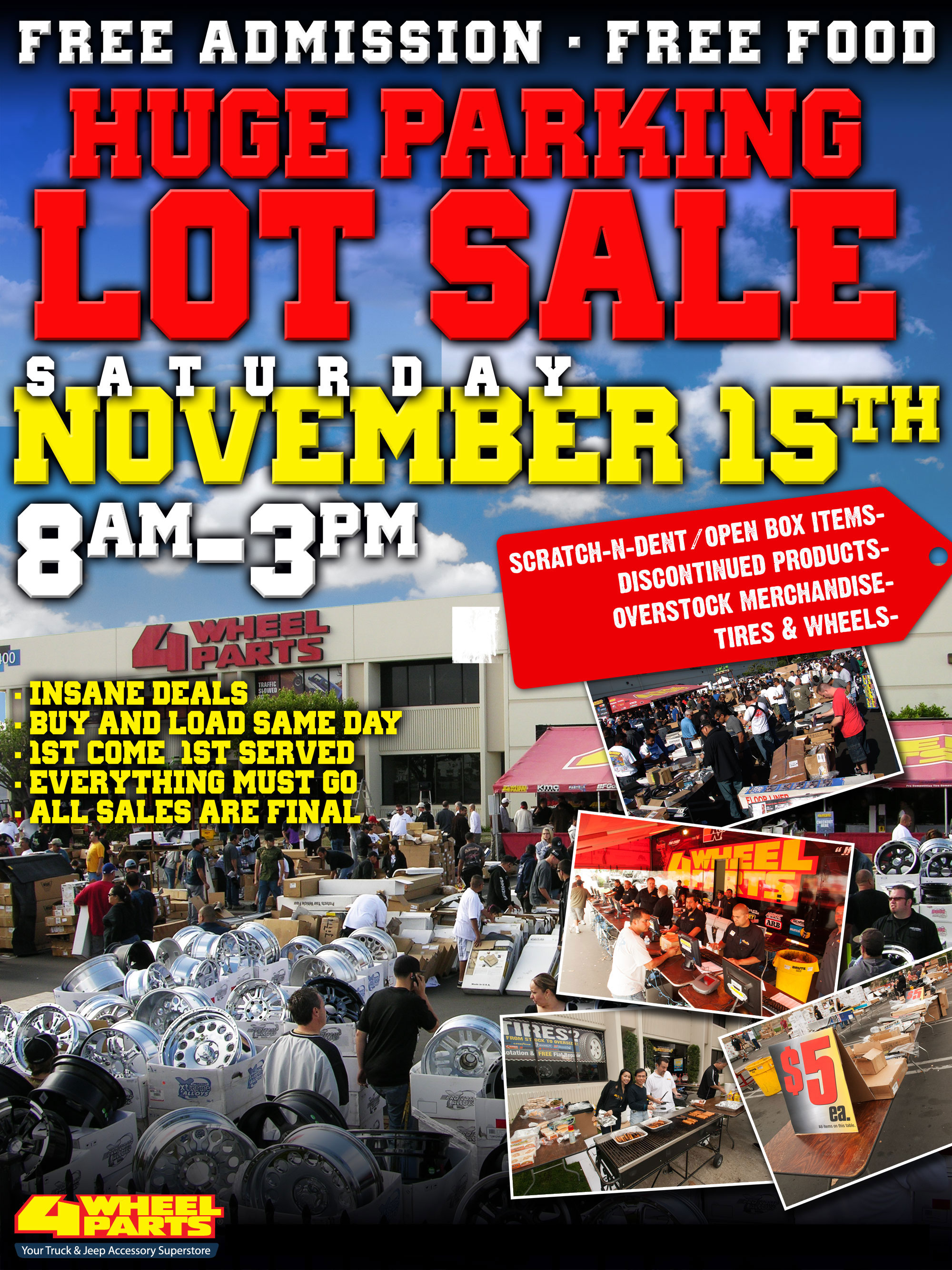 4 Wheel Parts Hosts Huge Parking Lot Sale