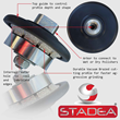 Diamond Profile Wheel - STADEA Series Super A For Granite Concrete Profiling