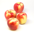Ambrosia apples are characterized by their smooth, bright, almost iridescent pink blush over a creamy yellow background.