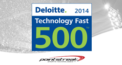 Pointstreak Sports Technologies Makes Deloitte's 2014 Technology Fast 500