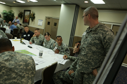 Veterans preparing for transition at the MLTS at Ft. Hood earlier this year