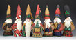 Dave Francis introduces 7 new tall hat Santas for Christmas 2014. Stock is extremely limited.