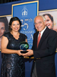 Dr. Farouk El-Baz receives the Leading by Example Award from Coptic Orphans founder and Executive Director Nermien Riad in Reston, VA on Oct. 11, 2014.