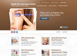 Maple Eye and Laser Center practice website