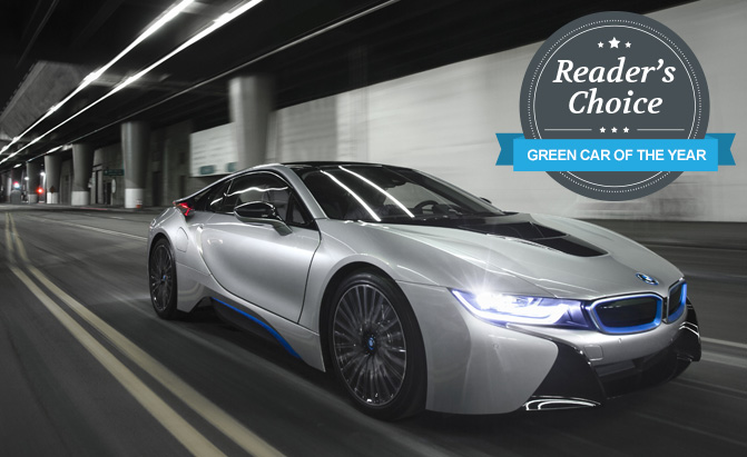 bmw i8 wins 2015 reader s choice green car of the year award. Black Bedroom Furniture Sets. Home Design Ideas