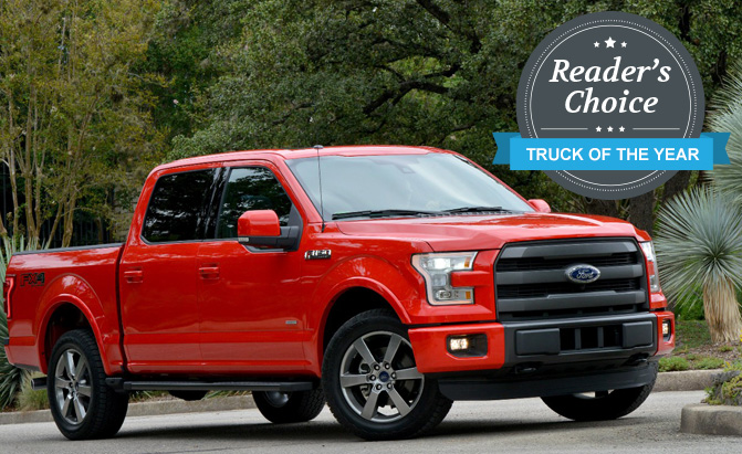 ford f 150 wins 2015 reader s choice truck of the year award. Black Bedroom Furniture Sets. Home Design Ideas