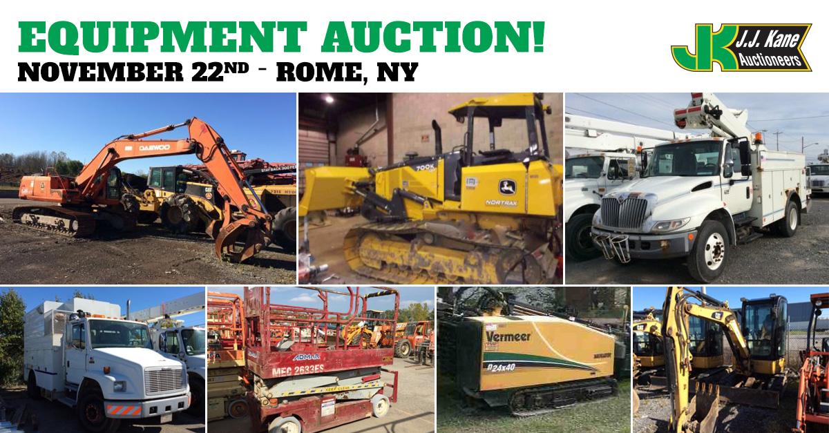 Public Auto and Equipment Auction, Rome, NY, November 22, 2014