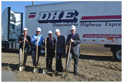 Dependable Highway Express breaks ground for new Ontario facility