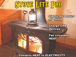 Stove Lite Pro on a Vermont Castings Resolute Encor Wood Stove