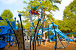 The first IONiX installation in Charlotte, NC is paired with an inclusive PowerScape play system to provide play for children of all abilities.