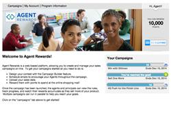 Agent Rewards Home Screen