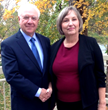 Howard Pomp, CEO of Sentry with Carla Everhart of Advantage Idaho