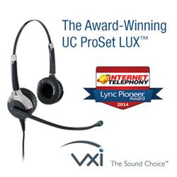 2014 Lync Pioneer Award Winner: VXi UC ProSet LUX