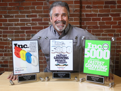 Steve Cottrell, Authenticom with Inc 5000 awards