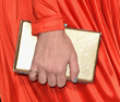 "Jill Milan's Art Deco Clutch in brushed gold, carried by Jena Malone to ""The Hunger Games: Mockingjay - Part 1"" Los Angeles Premiere Nov 17, 2014, in Los Angeles. (Photo: Jason Merritt/Getty Images)"