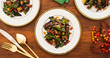 Red Wine Sauteed Chard with Golden Raisins and Chile