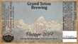 The Grand Teton Vintage 2014 Bottle Label