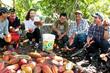 Zoe Mesnik-Greene with Fair Trade Cocoa farmers in Peru