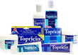 The floor display features flexible shelving for numerous display options of any type/size of Topricin formulas