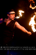 Fire performer Noah from Brooklyn at a Muse showcase