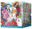 The POKEMON ADVENTURES: DIAMOND & PEARL/PLATINUM Box Set contains the complete 11-volume manga adventure along with a collectible poster!