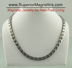 Magnetic Necklace for pain relief of migraines