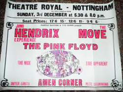 Original 1967 Jimi Hendrix/Pink Floyd England Concert Tour Posters