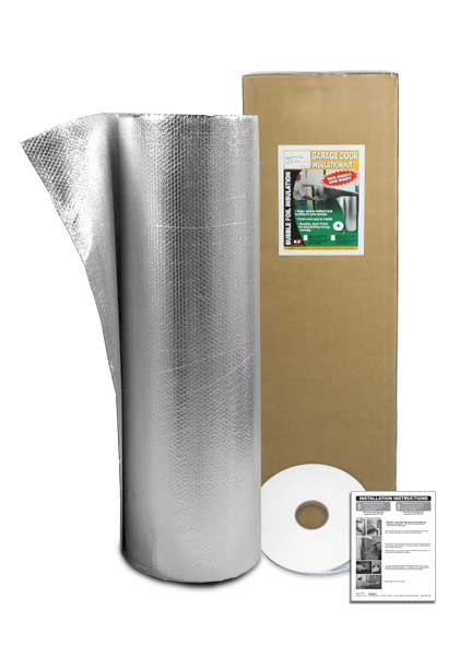 Ecofoil introduces new garage door insulation kits for Front door insulation kit