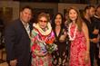 Ike Cockett, Kumu Hula Kaleinani Hayakawa, LeAna Cockett, Michiru Umezu (Left to Right)