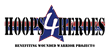 Hoops4Heroes Basketball Tournament Logo
