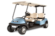 Four-passenger Precedent golf cars are also available for campground rentals.