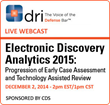 CDS to Sponsor and Present eDiscovery Analytics Webinar on Dec. 2,...