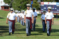 Middle School Battalion on Parade at Parents Weekend