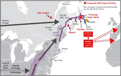 Figure 1. Map of LNG Export Facilities