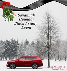 Up To $5,000 Off Santa Fe Sport for Black Friday Special at Savannah Hyundai Georgia