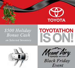 Black Friday Specials on Toyota Vehicles at Mount Airy Toyota