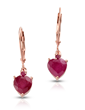 Ruby Heart Earrings
