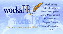 WorksPR, business, solutions, marketing, public relations, pr, web development, branding, graphic design, social media, seo, video, web, design, email, press release, writing, writer, coding, business, cards, brochure,
