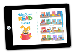 All 4 levels displayed on Helen Doron Read App